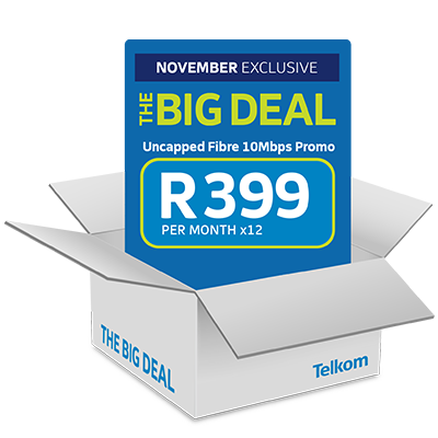 Get The November Big Deal for <br> <strong>R399pmx24</strong>