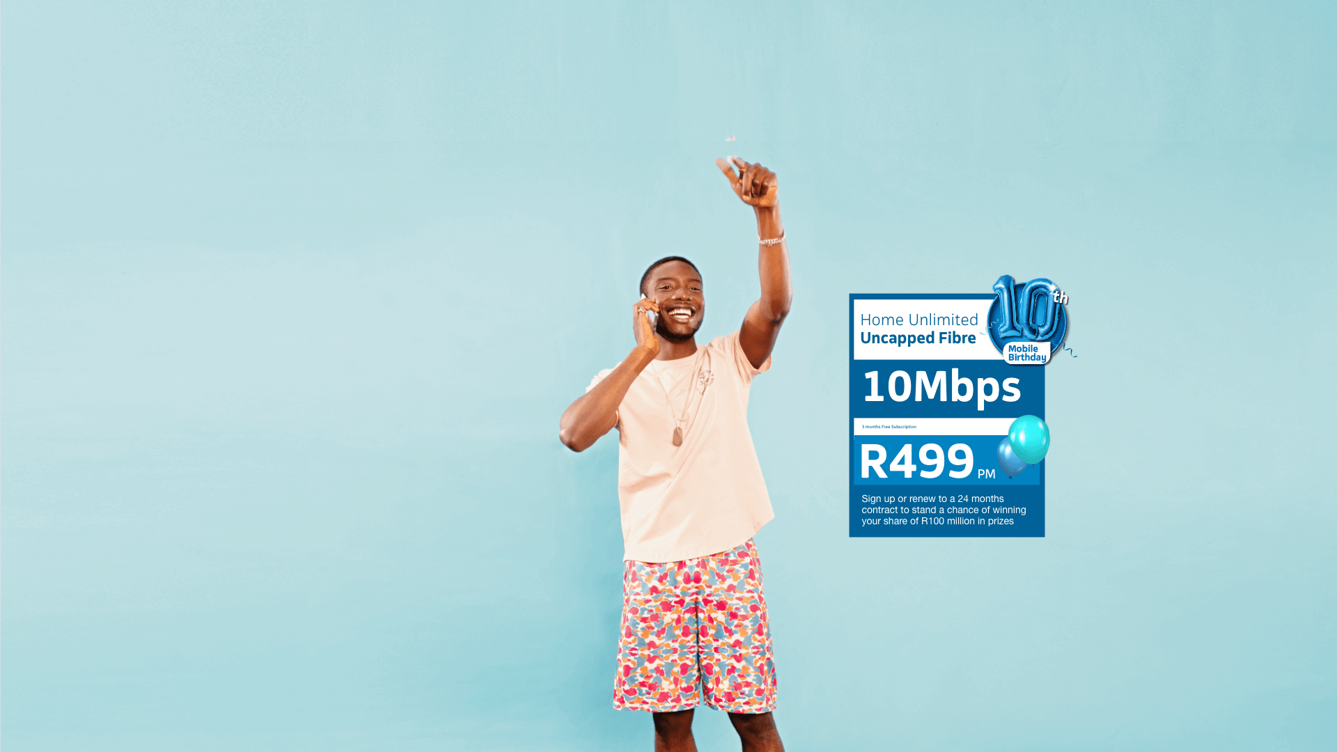 "<div style=""color: #0083C2; font-size: 2rem;"">Make your home the monate place to be with Telkom Home Unlimited Fibre</div>"